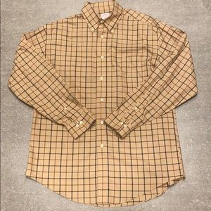 Brooks Brothers - Gold Plaid Button Down